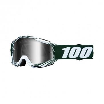 100% Accuri BALI Goggle, mirror silver Glas, Rahmen green white
