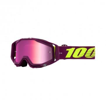 100% Racecraft KLEPTO Goggle, mirror pink Glas, Rahmen crystal purple