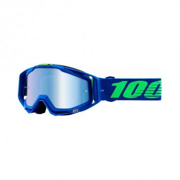 100% Racecraft DREAMFLOW Goggle, mirror blue Glas, Rahmen blue lime