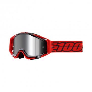 100% Racecraft Plus TORO Goggle, mirror silver Glas, Rahmen red-black