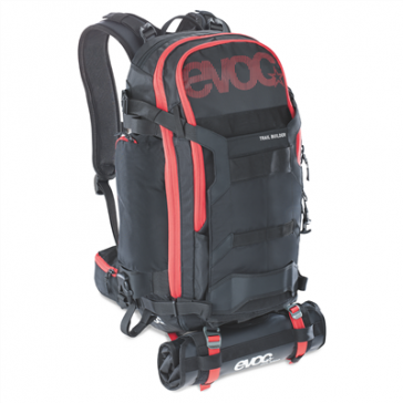EVOC TRAIL BUILDER 30L Rucksack, black-red, 2 kg Leergewicht, one size