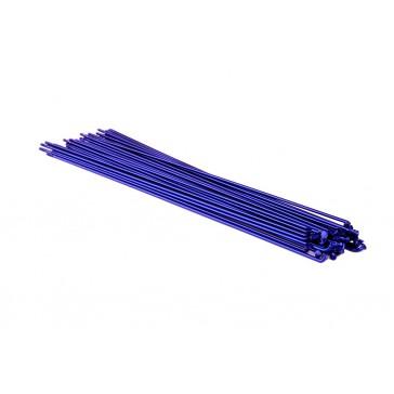 SUPER SALE 30% OFF SixPack Speichen ion blau, 2.0-1.8-2.0mm, inkl. Nippel 40 Stk, vers. Längen