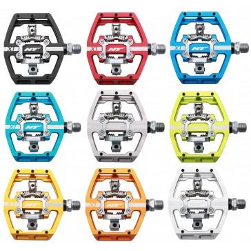 HT Components Pedal X1, Klickpedal, austauschbare Pins, Alu, Cr-Mo-Achse, 470gramm