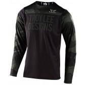 2020 Troy Lee Designs SKYLINE LS Jersey, Herren Mountainbike Trikot, langarm, Pinstripe Camo Green/Black
