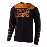 Troy Lee Designs SKYLINE LS Jersey, langarm, Pinstripe Black/Gold