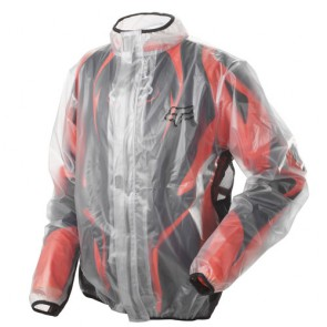 FOX MX Fluid Regenjacke clear