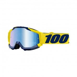 100% Accuri SUPPLY Goggle, mirror blue Glas, Rahmen yellow blue