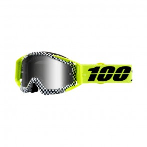 100% Racecraft ANDRE Goggle, mirror silver Glas, Rahmen yellow