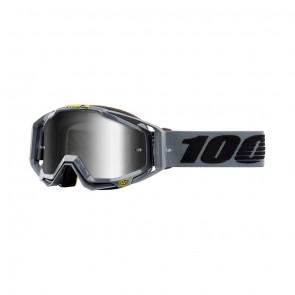 100% Racecraft NARDO Goggle, mirror silver Glas, Rahmen metal matte