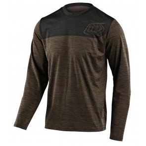 2020 Troy Lee Designs FLOWLINE LS Jersey, Herren Mountainbike Trikot, langarm, Shield Heather Walnut/Charcoal