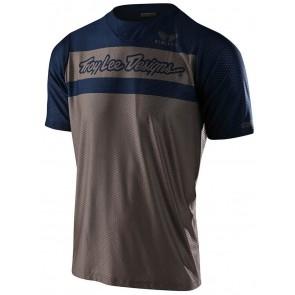 2020 Troy Lee Designs SKYLINE AIR SS Jersey, Herren Mountainbike Trikot, kurzarm, Factory Walnut/Navy