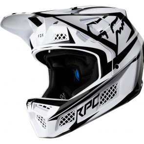 FOX RAMPAGE PRO CARBON 2019 Helm, fluid inside, Beast White
