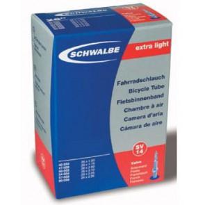 LAGERRÄUMUNG FR. 5.00/STK. Schwalbe MTB Schlauch Extra-Light PRESTA Ventil, 26x1.5-2.35 130 Gramm, KEIN UMTAUSCH ODER RETOURE