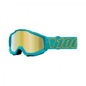 100% Accuri GALAK Goggle, mirror gold Glas, Rahmen turquoise