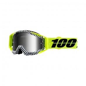 100% Racecraft ANDRE Goggle, mirror silver Glas, Rahmen yellow
