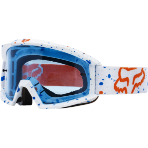 LAGERRÄUMUNG FR. 20.00 FOX Goggle Brille MAIN NIRV, blaues Lexan® Glas, weiss, KEIN UMTAUSCH ODER RÜCKNAHME