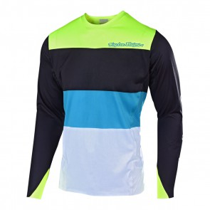 Troy Lee Designs SPRINT ELITE BETA Jersey, Herren Mountainbike Trikot, langarm, Beta black / Flo yellow