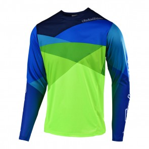 Troy Lee Designs SPRINT JET LS Jersey, Herren Mountainbike Trikot, langarm, Jet Yellow/Green