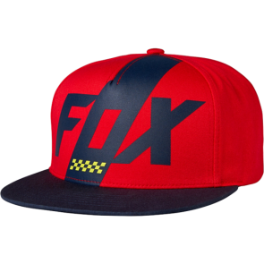 FOX Hat Cap SCALENE Snapback, one size fits all, red