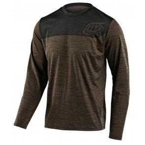 2020 Troy Lee Designs FLOWLINE LS Jersey, Herren Mountainbike Trikot, langarm, Shield Heather Walnut/Charcoal