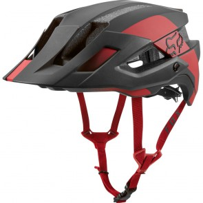 FOX Mountainbike Helm FLUX MIPS CONDUIT, black cardinal red