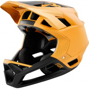 SUPER SALE 30% OFF FOX Mountainbike Helm PROFRAME MIPS, DH zertifizierter Integralhelm, 770 gramm, matt GOLD