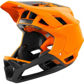 SUPER SALE 30% OFF FOX Mountainbike Helm PROFRAME MIPS, DH zertifizierter Integralhelm, 770 gramm, atomic orange