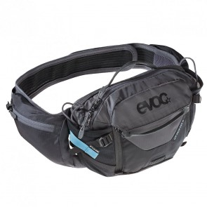 EVOC HIP PACK PRO 3L Rucksack, Hüftrucksack, black/carbon, one size, Trinkbeutel optional bestellbar