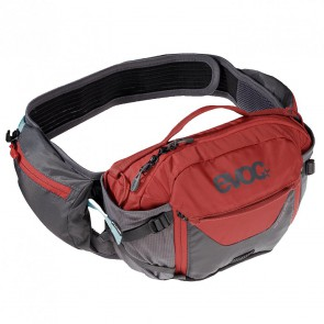 EVOC HIP PACK PRO 3L Rucksack, Hüftrucksack, carbon grey/chili red, one size, Trinkbeutel optional bestellbar