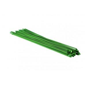 SUPER SALE 30% OFF SixPack Speichen ion grün, 2.0-1.8-2.0mm, inkl. Nippel 40 Stk, vers. Längen