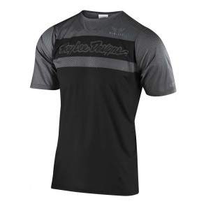 Troy Lee Designs SKYLINE AIR SS Jersey 2020, Herren Mountainbike Trikot, kurzarm, Factory Black/Gray, EINZELSTÜCK!