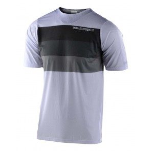 Troy Lee Designs SKYLINE AIR SS Jersey 2020, Herren Mountainbike Trikot, kurzarm, Continental White/Gray,, EINZELSTÜCK!