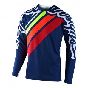 Troy Lee Designs SPRINT Jersey 2020, langarm, Seca 2.0, Navy/Red, L, EINZELSTÜCK!